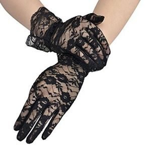 woman gloves pin up