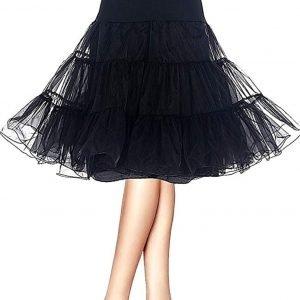 Cancan negro para faldas y vestidos